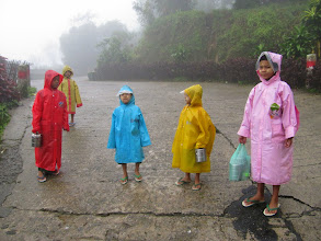 Photo: Year 2 Day 59 - On Their Way to School Up the Very Steep Hill