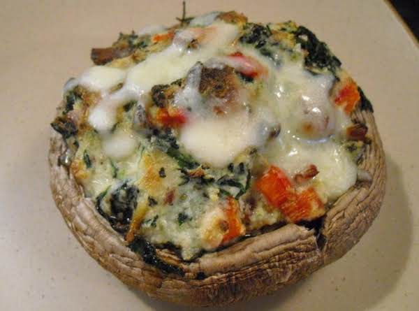 Spinach & Ricotta Stuffed Portobello Mushrooms