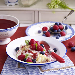 Coconut Rice Pudding with Fresh Berries