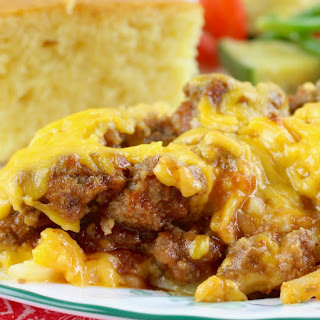 Crock Pot Sloppy Joe Casserole.