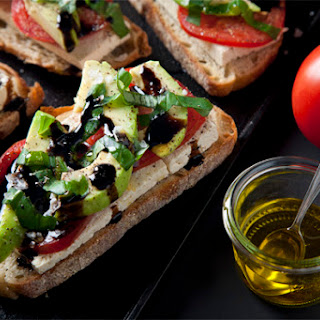 Open-Faced Vegan Caprese Sandwiches Recipe