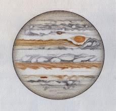 Photo: Jupiter le 21 février 2015 entre 22h40 et 23h30 TU. T406 à 350X en bino.