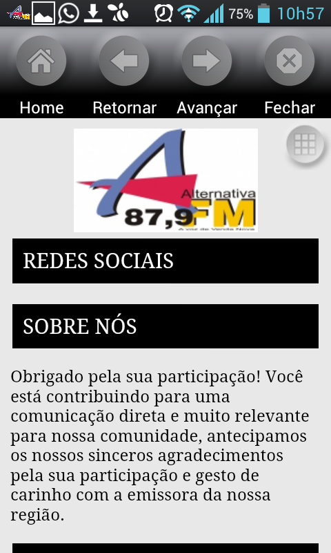Rádio Alternativa Venda Nova- screenshot