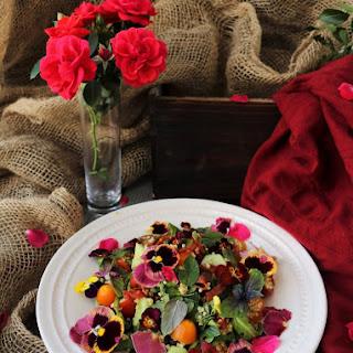 Millet Tomato Crispy Salami Salad