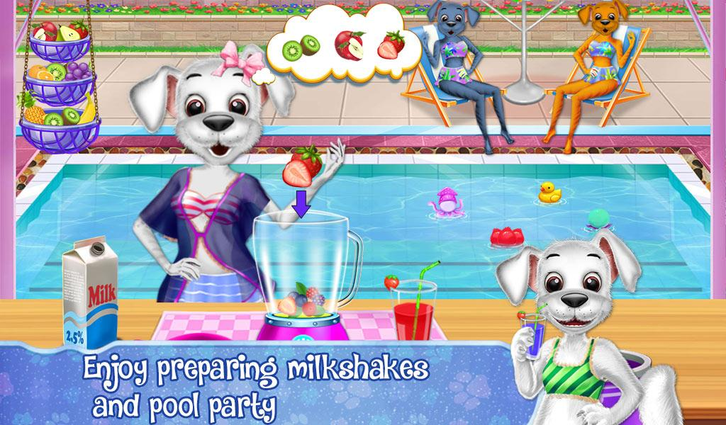 Baby Puppy Swimming Pool Party- screenshot