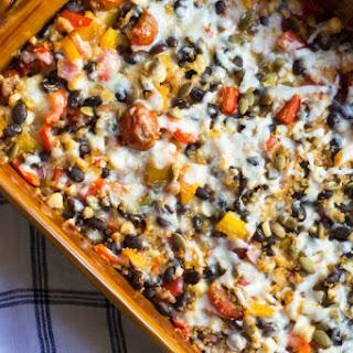 Healthy Mexican Casserole with Quinoa.