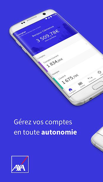 AXA Banque France Android App Screenshot