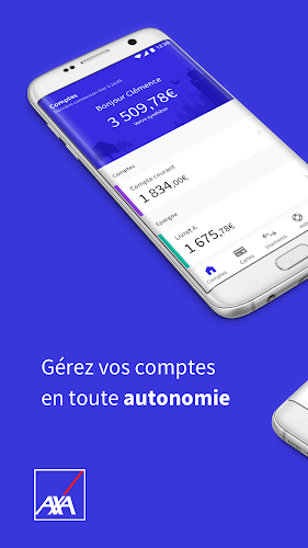 AXA Banque France Android App Screenshot