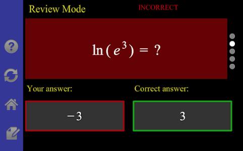 Logarithm/Exponential Tutor screenshot 4