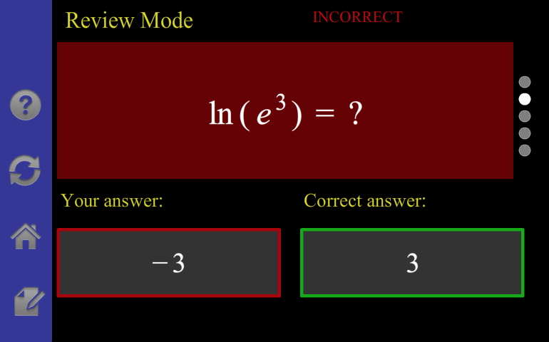 Logarithm/Exponential Tutor- screenshot