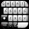Gloss White Emoji Keyboard icon