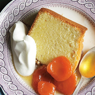 Pound Cake with Grand Marnier–Poached Apricots.
