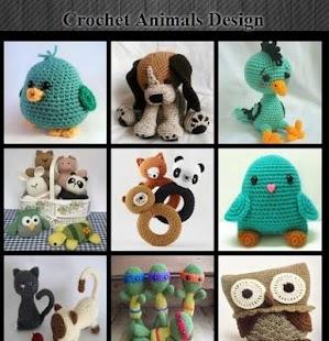 Design háčkovaných zvířat - náhled