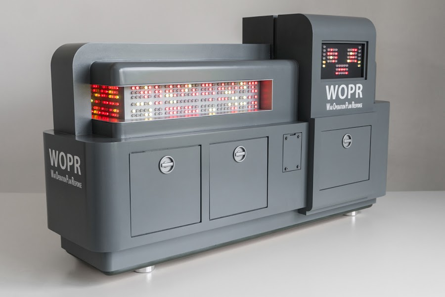 Stefan's incredibly detailed WOPR computer case mod from the movie WarGames.