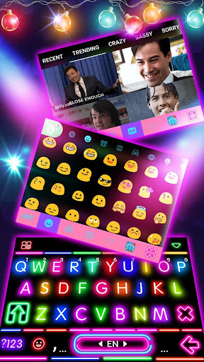 Sparkle Neon Lights Keyboard Theme 1.0 screenshots 4