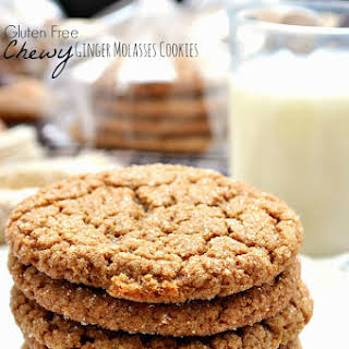 Gluten Free Chewy Ginger Molasses Cookies.