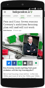 Irish Independent News- screenshot thumbnail