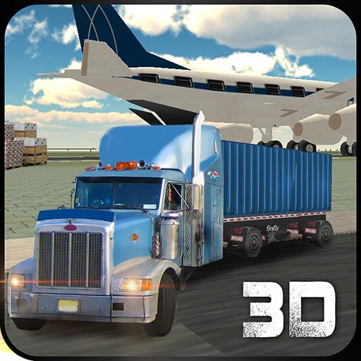 模拟の空港貨物輸送クレーン LOGO-記事Game