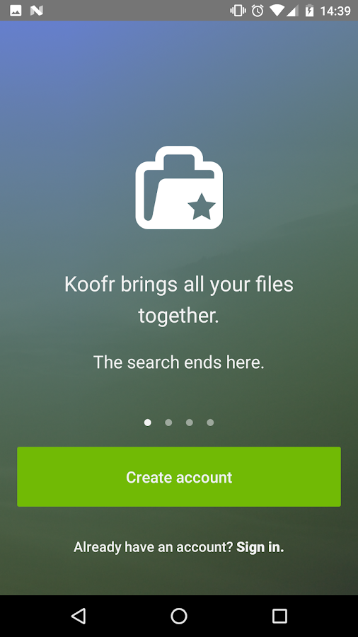Koofr- screenshot