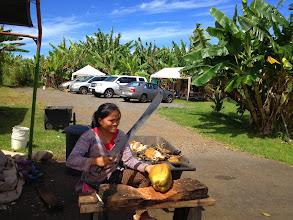 Photo: She wields quite the machete!