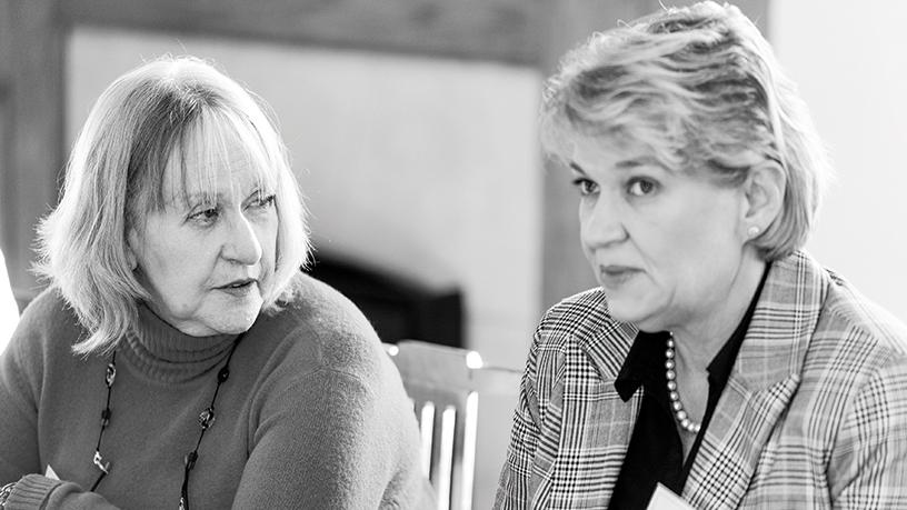 Moira Roche, IIPSA (left) and Noëlle van der Waag-Cowling, University of Stellenbosch.