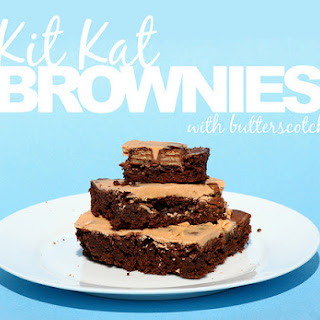 Kit Kat Brownies with Butterscotch