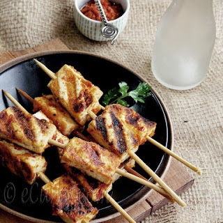 Harissa Marinated Tofu Skewers