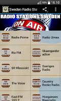 Screenshot of Sweden Radio Stations