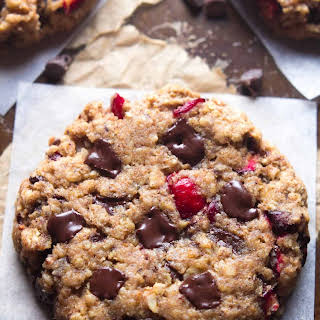 Dark Chocolate Cranberry Oatmeal Cookies.