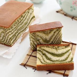 Matcha Marble Castella Cake.