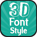 3D Font Style icon