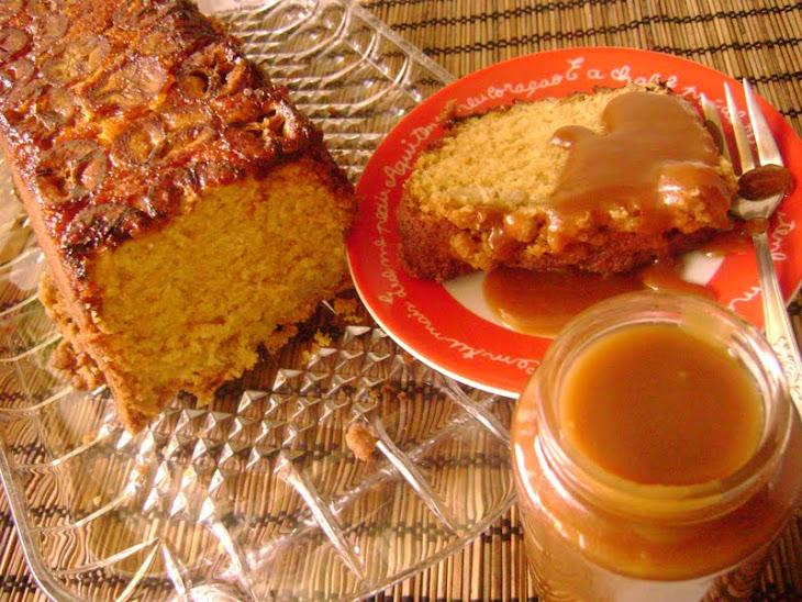 Banana Cake with Cardamom and Caramel Icing Recipe