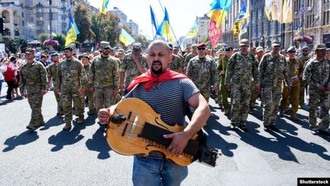 Хода ветеранів на День незалежності у Києві. 24 серпня 2019 року