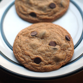Vegan Whole-Wheat Chocolate Chip Cookies for Two.