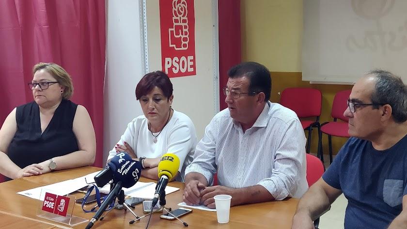 José Miguel Alarcón en una comparecencia en la sede del PSOE.