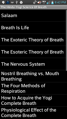 android Hindu-Yogi Science Of Breath Screenshot 1