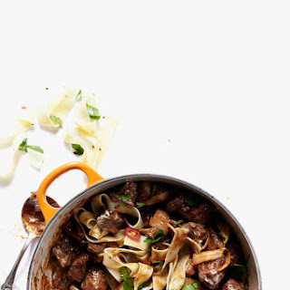 Venison Neck and Wild Mushroom Stroganoff