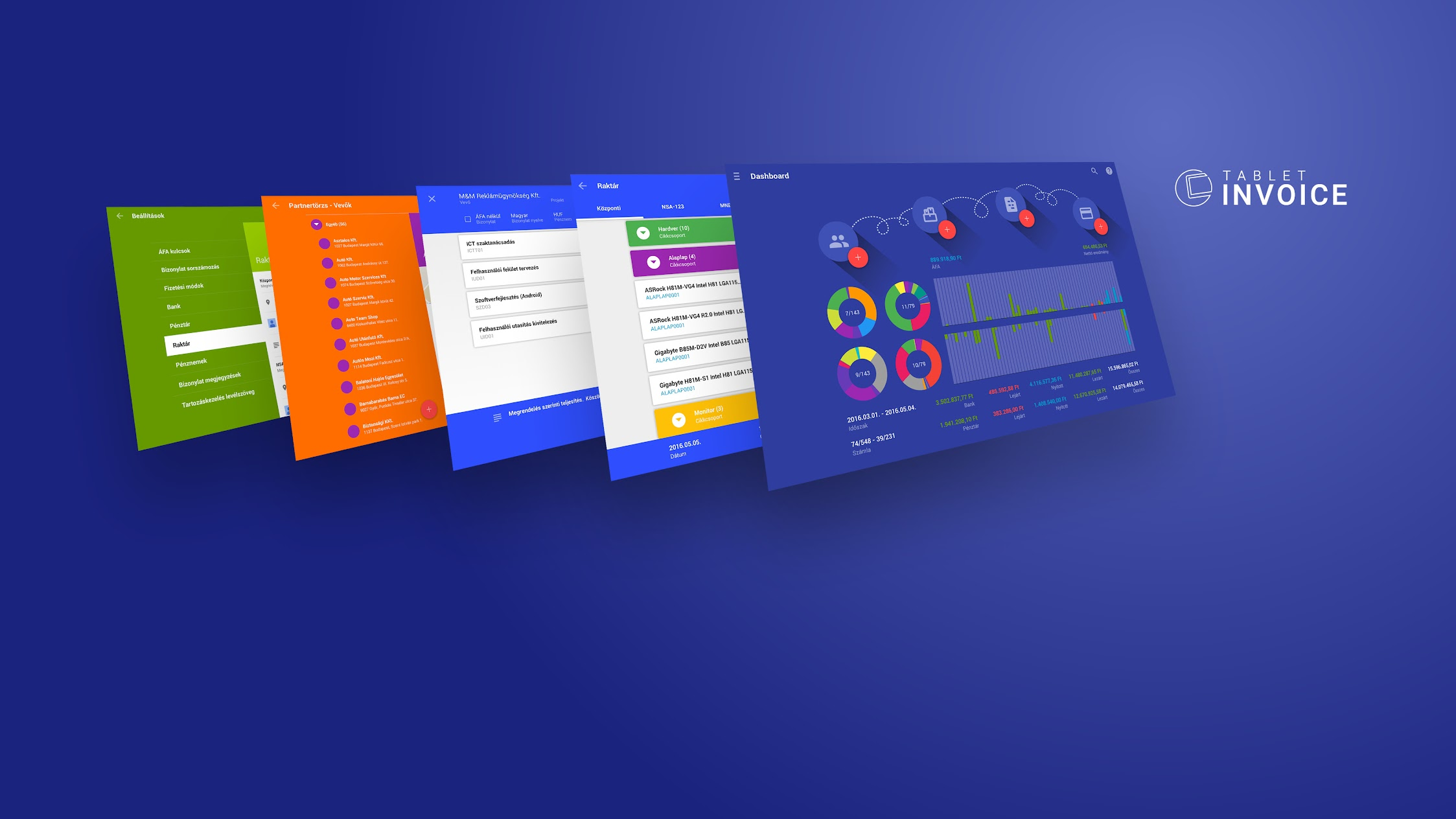 Tablet Invoice FinTech