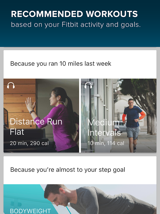 Fitbit Coach- screenshot