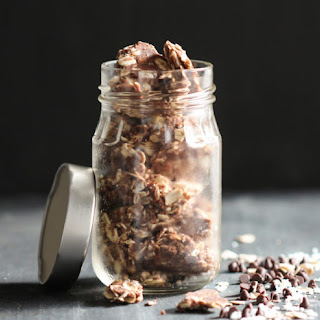 Healthy Chocolate Coconut Granola Clusters.