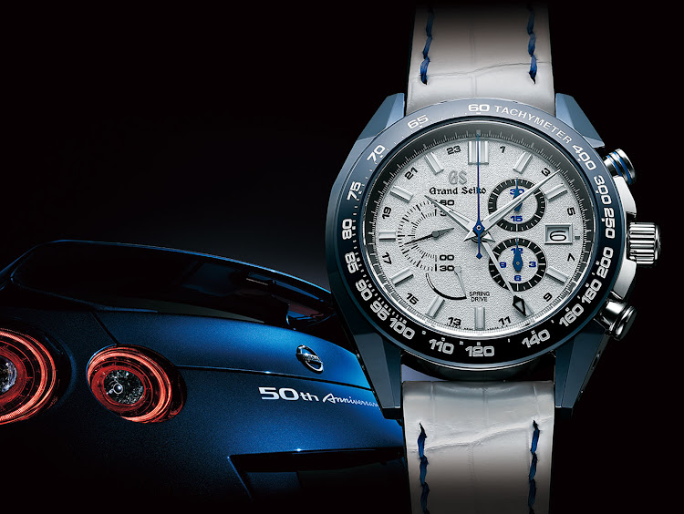 Grand Seiko Spring Drive 20th & Nissan GT-R 50th Anniversary Limited Edition.