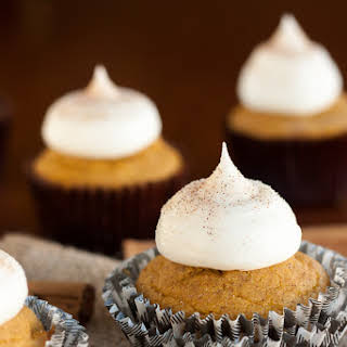 Gluten Free Pumpkin Cupcakes with Cream Cheese Frosting.