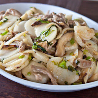 Stir Fried Chinese Sticky Rice Cakes (Nian Gao) Recipe (炒年糕 chǎo nián gāo).