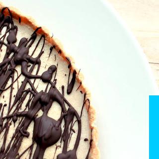 High Protein Dessert Tart with PB2 & Chocolate.