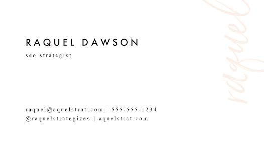 Dawson SEO Strategist Back - Business Card Template
