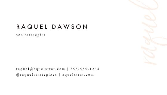 Dawson SEO Strategist Back - Business Card Template