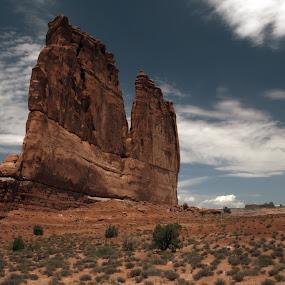 Arches National Park by Jud Joyce - Landscapes Travel ( clouds, desert, national parks, rock )