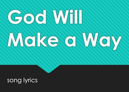 God Will Make A Way - náhled