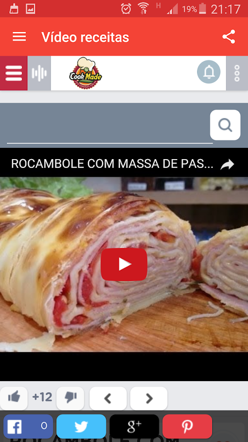 Cookmade Receitas: captura de tela