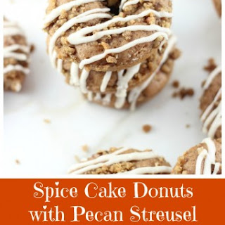 Spice Cake Donuts with Pecan Streusel and Brown Butter Icing
